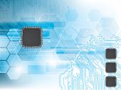 stock photo of processor  - Technology background with integrated circuit and data processor - JPG