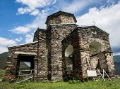 picture of greater  - Sameba church in Shenako villgae in Greater Caucasus - JPG