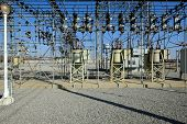 image of substation  - A California electrical substation provides power to a city - JPG