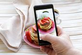 stock photo of strawberry  - smartphone shot food photo   - JPG