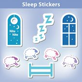 Постер, плакат: Sleep Stickers