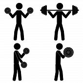 pic of lifting weight  - Lift weights at the gym - JPG