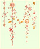 image of windchime  - Illustration of Decorative Wind Chimes with floral ornament design - JPG