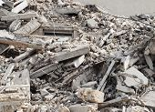 stock photo of construction  - construction and demolition debris  at construction site - JPG