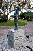 stock photo of plinth  - Memeorial to the holocaust in Oranjestad - JPG