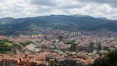 stock photo of basque country  - Panorama on the center of Bilbao Basque country Spain.