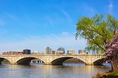 stock photo of rosslyn  - A view on Rosslyn from Potomac River bank in Washington DC - JPG