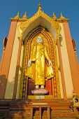 stock photo of tabernacle  - Laymyatnar Buddha covered with gold leaf - JPG