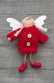 foto of guardian  - Red christmas or guardian angel  - JPG