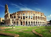 picture of building exterior  - Colosseum in Rome - JPG
