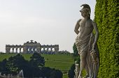 pic of schoenbrunn  - Beautiful marble sculpture at Schenbrunn park and palace in Vienna - JPG