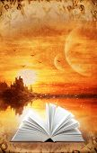 stock photo of reading book  - Fantasy world - JPG