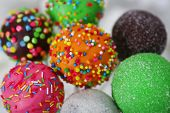 pic of cake pop  - Sweet cake pops in vase close - JPG