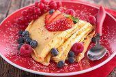 stock photo of crepes  - crepe and berry fruit - JPG