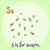 pic of swarm  - A letter S which stands for swarm - JPG