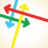 stock photo of lap  - a colourful over lapping arrow background image - JPG