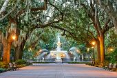 stock photo of fountains  - Savannah - JPG