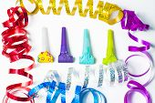 picture of blowers  - Item for party colorful serpentine and blowers - JPG