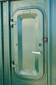 picture of tights  - green Water tight door on a ship - JPG