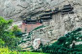 picture of grotto  - The whole view of Yunmen Grotto in China - JPG