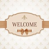 foto of ribbon bow  - Welcome - JPG