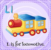 image of locomotive  - Illustration of an alphabet L is for locomotive - JPG