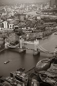 foto of old bridge  - London rooftop view with Tower Bridge with urban architectures - JPG