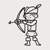 foto of archer  - Archer Doodle - JPG