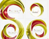 picture of slogan  - Vector swirl line abstract background - JPG