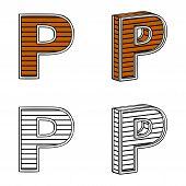 stock photo of letter p  - Letter P  - JPG