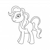 stock photo of fairy tail  - Vector illustration of cute horse - JPG