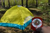 foto of compass  - Compass and tourist tent - JPG
