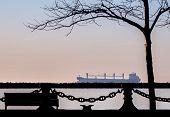 stock photo of iron ore  - Photograph of Great Lakes iron ore ship - JPG