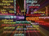 picture of glowing  - Background concept wordcloud multilanguage international many language illustration of event glowing light - JPG