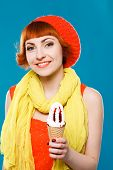 picture of french beret  - studio portrait - JPG