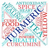 stock photo of ringworm  - Turmeric word cloud on a white background - JPG