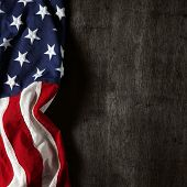 stock photo of usa flag  - American flag for Memorial Day or 4th of July - JPG