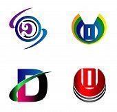 foto of letter d  - Letter D logo design sample icon set - JPG