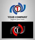 picture of letter t  - Letter T logo design icon vector illustration - JPG