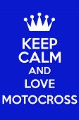 picture of motocross  - Keep Calm And Love Motocross Poster Art - JPG