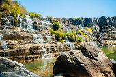 picture of lats  - The big Pongour waterfall near Da Lat city - JPG