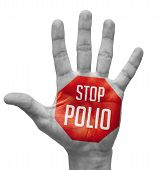 image of polio  - Stop Polio  Sign Painted  - JPG