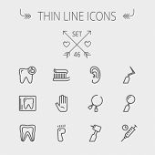 picture of flat-foot  - Medicine thin line icon set for web and mobile - JPG