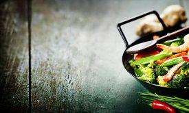image of chinese wok  - Chinese cuisine - JPG