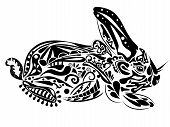 pic of kirigami  - new year rabbit - JPG