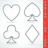 Постер, плакат: Casino line icon