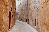 image of olden days  - Street in an old European town  - JPG