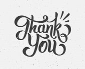 Thank You hand drawn lettering poster