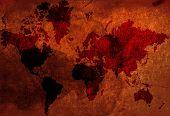 Vintage World-Map poster