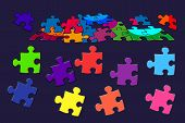 Постер, плакат: Puzzle colorful abstract background Digital drawing
